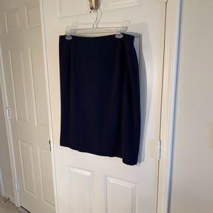 Louben navy lined pencil skirt
